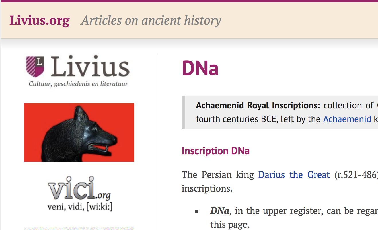 خواندن خط میخی سایت لیویوس