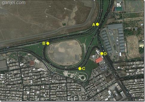 نقشه هوایی میدان فتح تهران